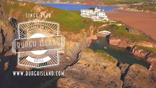 Burgh Island Drone Aerial